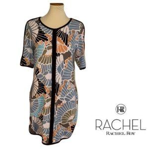 RACHEL Rachel Roy Floral Color Block Dress Size L